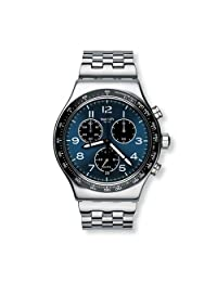 Swatch 斯沃琪 瑞士品牌 多功能商务系列 石英男士手表 拳击之巷 YVS423G