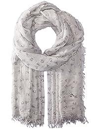 Armani Jeans 女士玫瑰印花梭织围巾