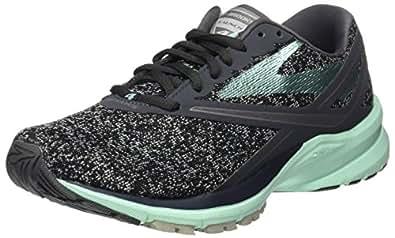 Brooks Women's Launch 4 Anthracite/Beach Glass/Silver Running Shoe 6 Women US