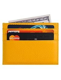 ADTIMEFC 真皮卡套超薄钱包信用卡包小巧钱包超薄 6 个卡槽