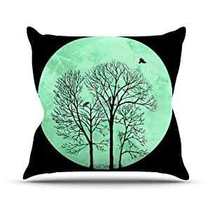 Kess Micah Sager Perch Teal Circle Outdoor Throw Pillow