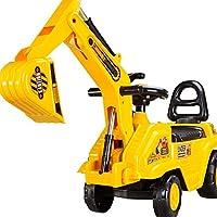 活石 仿真工程车 大号挖掘机可骑可坐挖土机模型儿童玩具挖机 (挖掘机滚轮款)
