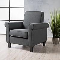 Christopher Knight Home 300063 Freemont 手臂椅,深灰色