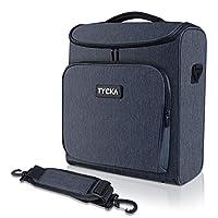视频投影仪盒 TYCKA 防护投影机收纳袋防震投影仪手提箱带肩带,投影仪设备配件存储袋(13,5 x 6,3 x 14.5 英寸)