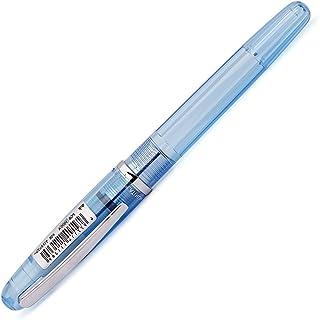 PLATINUM 日本白金 PGB-3000A彩色透明钢笔 蓝色细字 F尖(配推拉吸墨器)