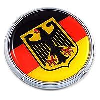 德国德国德州旗 6.99 厘米汽车镀铬圆形徽章贴花 3D 徽章