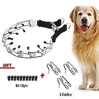 SuReady 狗爪项圈,不锈钢狗 Chole Pinch 训练项圈,带快速释放搭扣,适合大型犬