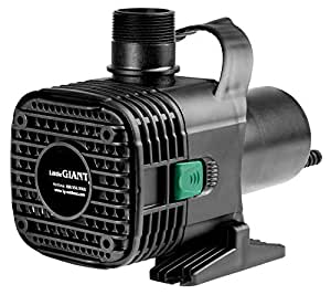 Little Giant 566728 Wet Rotor Pump with 20-Feet Cord, 5000GPH