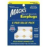 macks 枕头软硅胶耳塞超值装,6支装