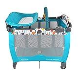 GRACO 葛莱婴儿床便携式儿童游戏床 午睡尿布更换台 (蓝绿色) 1898853