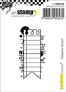 """Carabelle Studio Cling Stamp 2.75""""X3.75""""-Flag Label"""