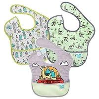 Bumkins 嬰兒圍嘴 防水 可洗 耐污漬和異味 6-24個月 3件裝