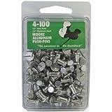 Moore Push-Pin 铝制挤压针 4-100 (4-100)