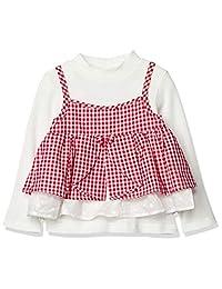 TAKIHIYO 格子吊带衫 + 长T恤 套装 女孩 MARIARJUE 红色 日本 110 (日本サイズ110相当)