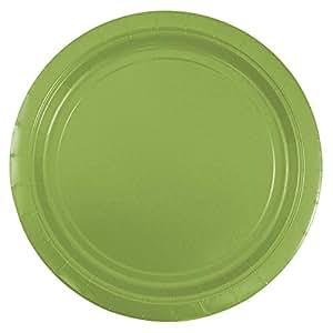 """JAM Paper Round Paper Party Plates - 50/pack 柠檬绿 Medium (9"""")"""