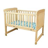 华子 实木婴儿床儿童床木质小童床变书桌摇篮床【送蚊帐】 (HZ-A-222-M)可变书桌、变摇床、万向静音轮