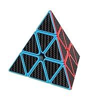 willking 金字塔速度立方体碳纤维贴纸 3x3 扭曲三角立方体拼图