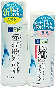 哈达 LABO gokujyun ***玻尿酸保湿乳液 ( 5.7fl / 170ml ) & Milk ( 4.7fl / 140ml ) 超值套装 Lotion and