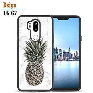 LG G7(黑色)手机套,Dsigo TPU 黑色全保护套与 LG G7 手机壳,LG G7 ThinQ 手机壳(2018版)-复古花卉粉色 KQ 6
