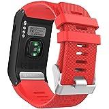 MoKo GARMIN 佳明 Vivoactive HR手表表带 手环腕带 适配Garmin vivoactive HR光学心率时尚腕表运动软硅胶表带 红色