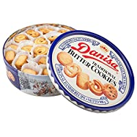 Danisa 皇冠 丹麦曲奇饼干原味908g(丹麦进口)(亚马逊自营商品, 由供应商配送)