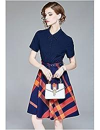 法贝莱品牌 欧洲站2018夏季新款欧美V领系带拼接不规则裙摆天丝麻短袖修身女式连衣裙G989