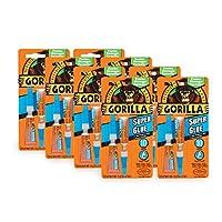 Gorilla 强力胶水,两根 3 克管,透明 8 pack 7800101-8