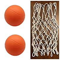 BTF Play 幼儿儿童更换网和篮球 1 或 2 只装 2 ball 橙色