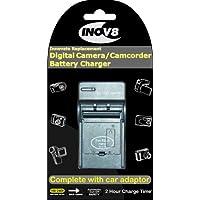 Inov8 Olympus Li-10B / Li-12B / Sanyo DB-L10 Travel Battery Charger with 12v in-car adapter