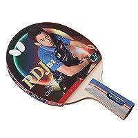 Butterfly RDJ CS2 乒乓球拍 - ITTF 认证乒乓球拍 - 卓越的平衡旋转,速度控制 - 短柄乒乓球拍