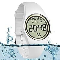 feifuns 3D 非蓝牙儿童计步器手表运动腕带 IP68 游泳防水健身追踪器精确跟踪步数/距离/卡路里/计时器步行跑步儿童男女皆宜