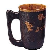尾崎商店 啤*杯 日式餐具 『木制啤*杯』 兔子雕花