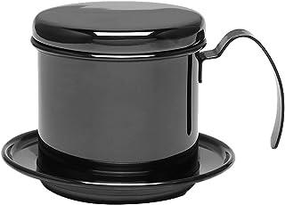 滴滤咖啡壶 - Dewin 不锈钢滴滤咖啡机,便携式,适用于家庭,厨房,办公室,户外,3 种颜色(颜色:黑色)