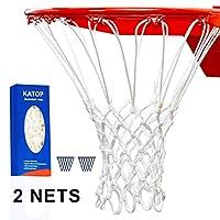 KATOP 篮球网,替换重型户外室内全天候厚网 12 圈