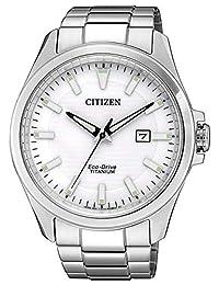 CITIZEN 男式模拟石英手表钛表带 BM7470-84A