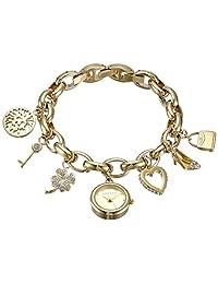 Anne Klein 女士 10-7604CHRM Swarovski 仿水晶金色手链手表
