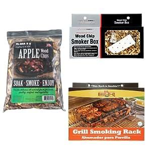 Mr. Bar-B-Q 160179 Complete Grill Smoker Kit Apple