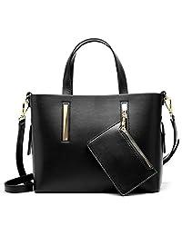 S-ZONE 女士皮革钱包和手提包单肩斜挎包搭配钱包