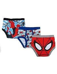 Marvel 男童3件装蜘蛛侠内衣–幼儿