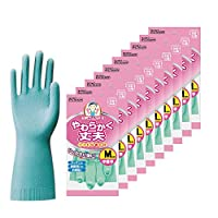 Dunlop 家用产品 手套 天然橡胶 柔软耐用 * M 厨房 餐具 清洁 SP-8 10个套装
