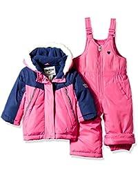 OSHKOSH b'gosh Osh Kosh 女婴滑雪夹克和 snowbib 防雪套装