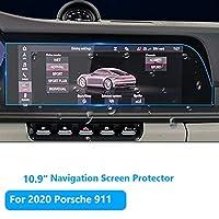 保时捷 911 导航屏幕保护膜 [2020],TTCR-II 钢化玻璃屏幕保护膜 [10.9英寸] 防爆娱乐 LCD 屏幕保护膜