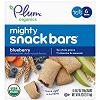 Plum Organics Mighty 4種基本營養餅干 藍莓胡蘿卜 0.67盎司(18.99克) 6份(8包)