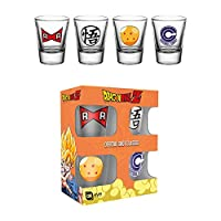 GB eye Dragon Ball Z Mix Shot Glasses, Glass, Multi-Colour