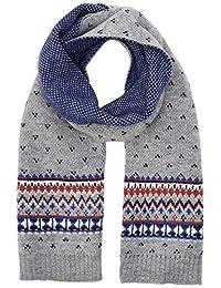 Hackett 男童 KIDS FAIRISLE SC 围巾,多色(多色 0aa),(制造商尺寸:均码)