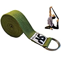 sukhi yoga 超软 yoga 带 D 型环,完美适用于拉伸,手持姿势, improving 灵活性与物理*