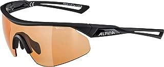 Alpina 中性款 - 成人 NYLOS Shield VL 运动眼镜,黑色,均码