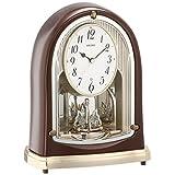 SEIKO CLOCK(セイコークロック) 置き時計 スタンダード 電波時計 ツイン・パ (茶メタリック塗装) BY239B