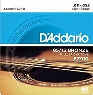 美国 d'addario Ej Daddario 木吉他弦85/ 15青铜 EZ 【国内正規品】 .011-.052 弦: