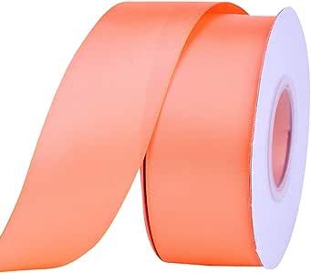 Ribest 1-1/2 英寸 25 码纯双面缎带每卷 DIY 发饰剪贴簿礼品包装派对装饰婚礼花 桃红色